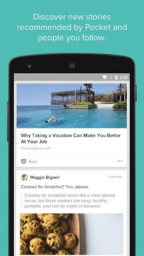 Screenshot 3 for Pocket's Android app'