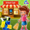 High School Cafe Clean: Cleaning Games 2019 icon