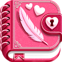 My Secret Diary with Lock and Photo icon