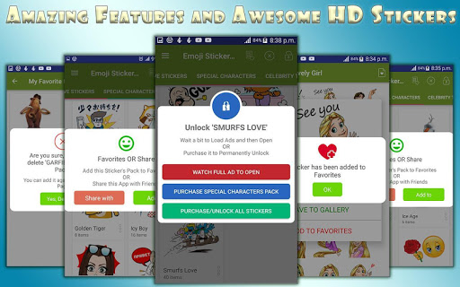Emoji Stickers For All Messengers 1.3 screenshots 1