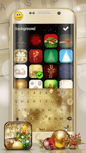 Christmas Emoji Keyboard Theme screenshot 0