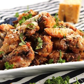 Baked Garlic-Parmesan Wings.