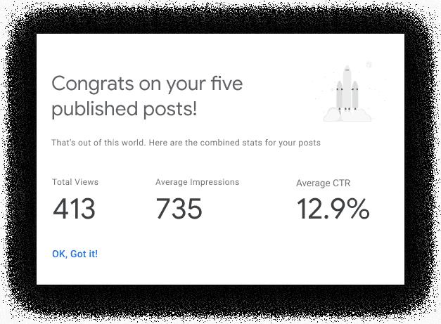Site Kit for WordPress seo milestones