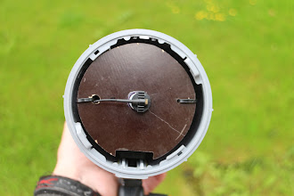 Photo: The first version was made with magnetic holder. But it was not possible to adjust the mic placement