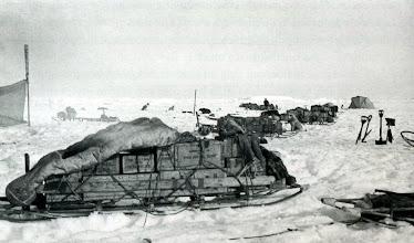 Photo: un trineo cargado.