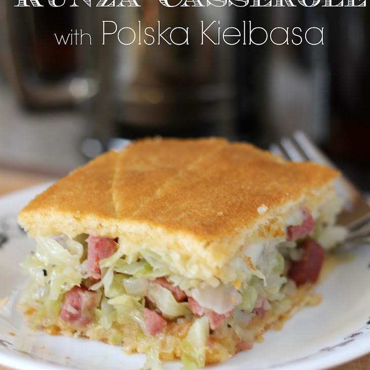 Runza Casserole with Polska Kielbasa Recipe
