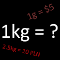 Calculator Price per kg/liter icon