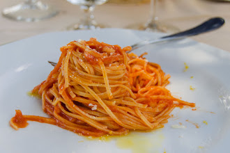 Photo: Dolce and Gabbana - pasta in tomato sauce with lemon zest.  It was really tasty.