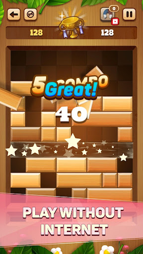 Woody Drop Puzzle - Free Block Mind Games filehippodl screenshot 2