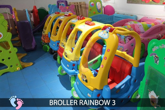 Xe chòi chân Broller Rainbow 3 cho bé 1