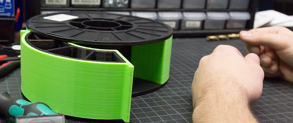 How To: Make Use Of Empty Filament Spools for Organization