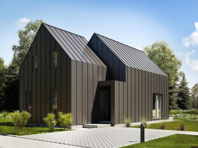 Nowoczesny dom z dachem dwuspadowym
