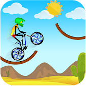 Tricky Bike Stickman Mountain Hill Racing Stunt