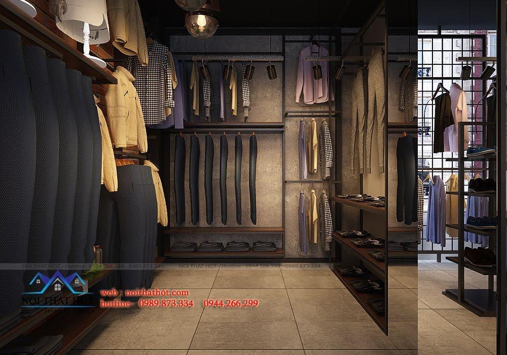 thiết kế shop thời trang nam H2T 7