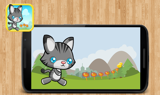 Angry Cat Fun Dash Temple Game