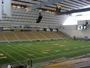 Photo: Inside the Kibbee Dome, the football stadium of the University of Idaho Vandals.