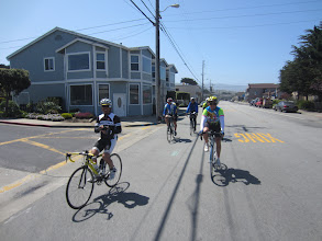 Photo: Guy and John trailed by the other guys in Pacifica