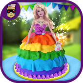 Rainbow Doll Cake Maker Chef