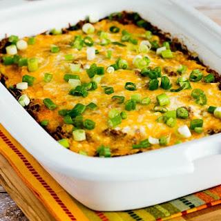 Slow Cooker Low-Carb Mexican Lasagna Casserole.