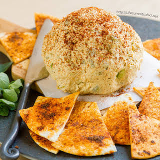 Mexican Cheese Ball with spicy Tortilla Chips.