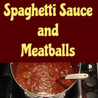 Nanny's Spaghetti Sauce and Meatballs