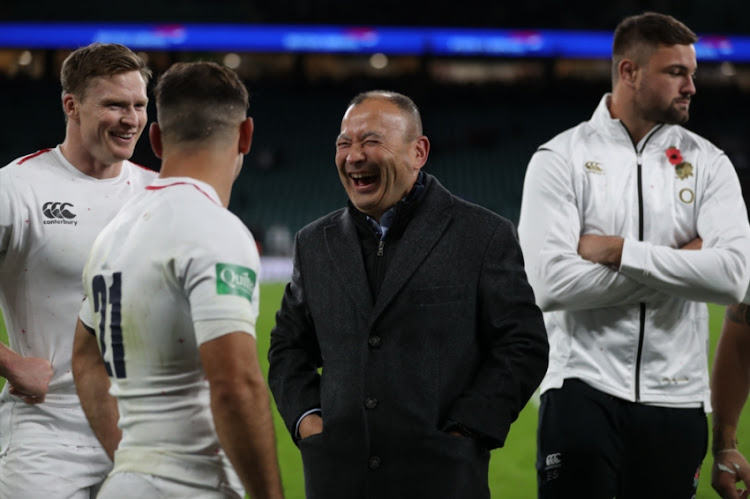 Eddie Jones (Head Coach) of England during the Castle Lager Outgoing Tour match between England and South Africa at Twickenham Stadium on November 03, 2018 in London, England.