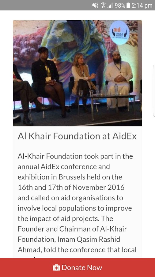 Al-Khair Foundation- screenshot