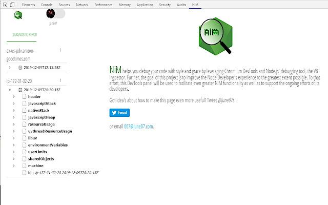 Node.js V8 --inspector Manager (NiM)