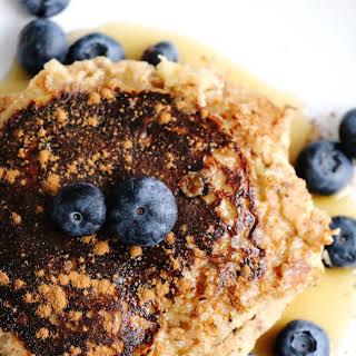 Gluten-free Banana Cinnamon Pancakes.