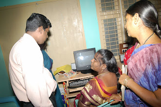 Photo: A participant being asked to work on an assigment on the computer