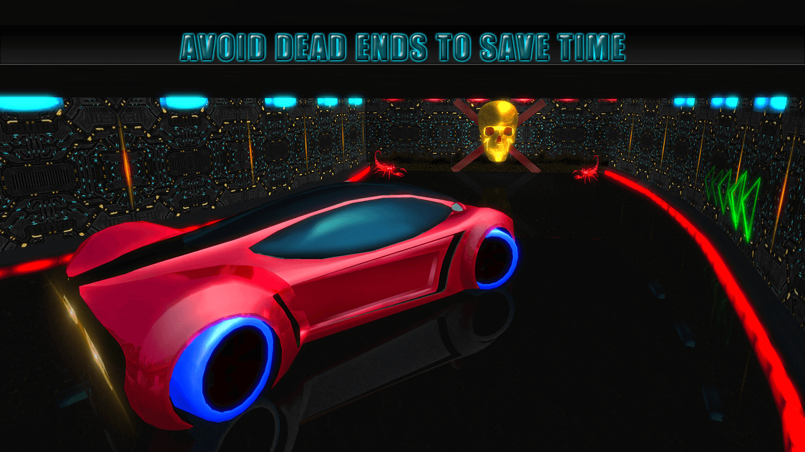 futuristic neon car driving : arena rival 2018 - android apps on