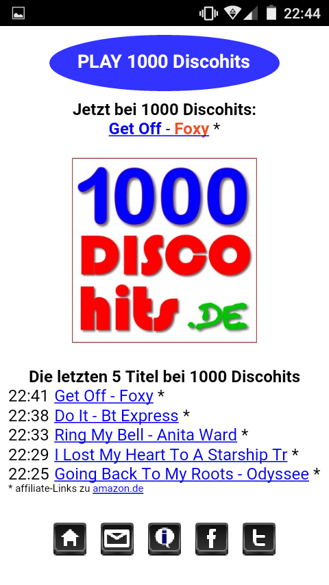 1000 Discohits Player- screenshot