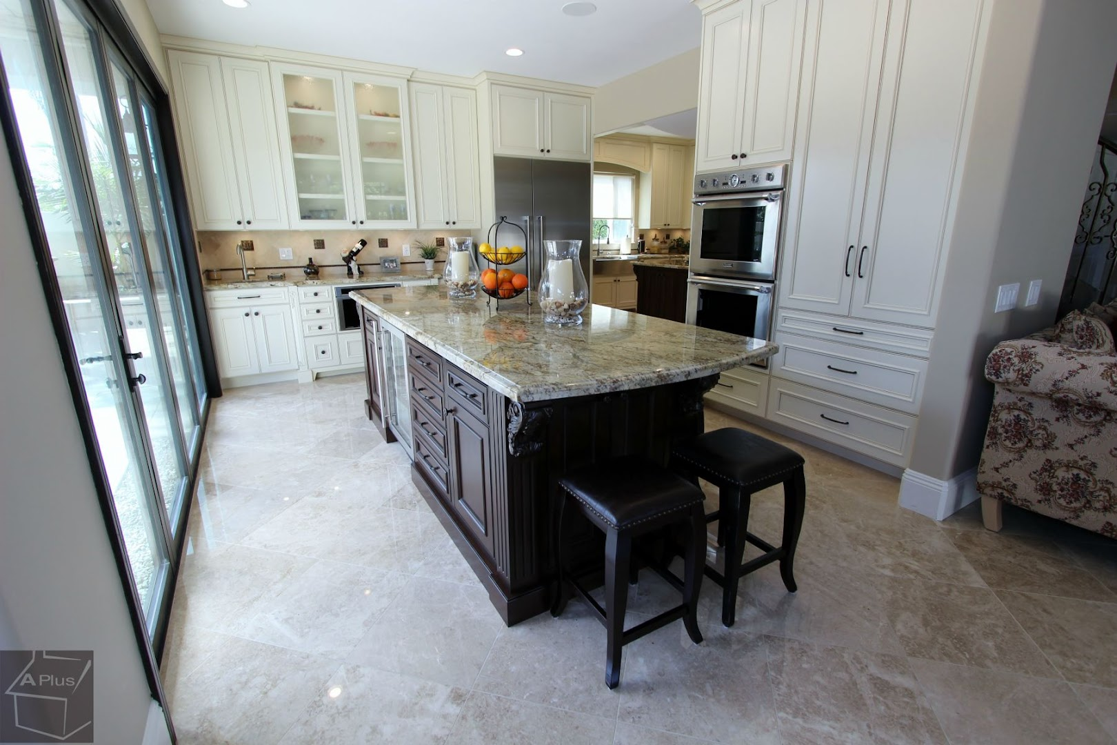 Huntington Beach Traditional Kitchen Remodel With Custom Cabinets