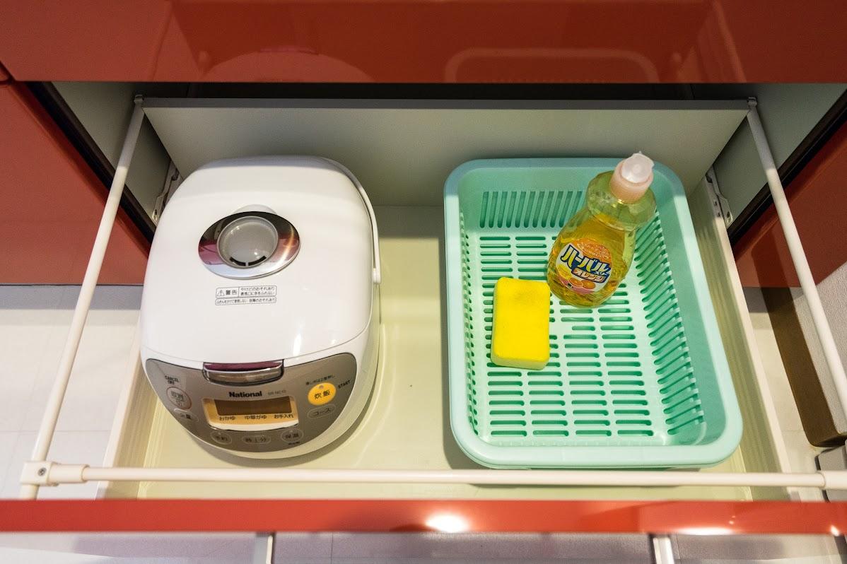 炊飯器&洗剤&スポンジ