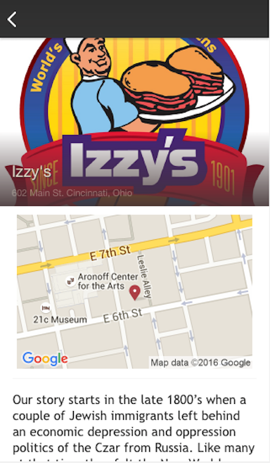 Izzy's- screenshot