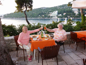 Photo: Dinner at Hotel Splendid in Dubrovnik was scenic but the food was just ordinary.