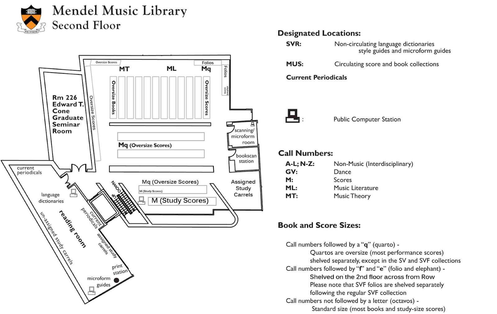 Stack map of Mendel's second floor