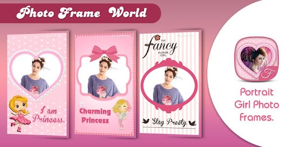Girly Photo Frame World screenshot 2