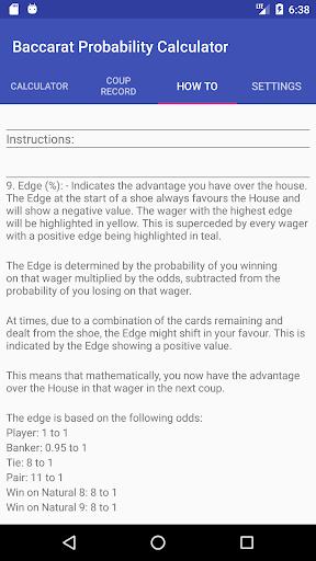 Baccarat Probability Calculator (Full) 36 screenshots 6