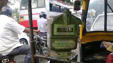 Photo: taxametr v Tuk tuku out of order :-)