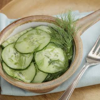German Cucumber-Dill Salad Gurkensalat Recipe