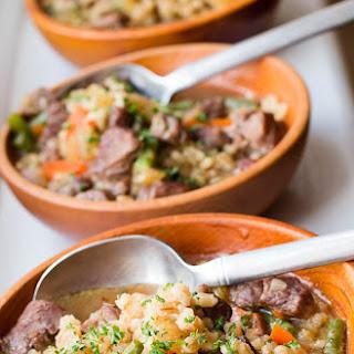 Lamb & Barley Stew.