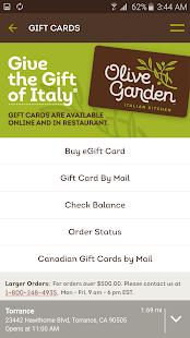 Olive Garden Italian Kitchen Android Apps On Google Play