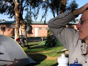 Photo: Perry in thought at the Brookton Caravan Park and Camping Ground