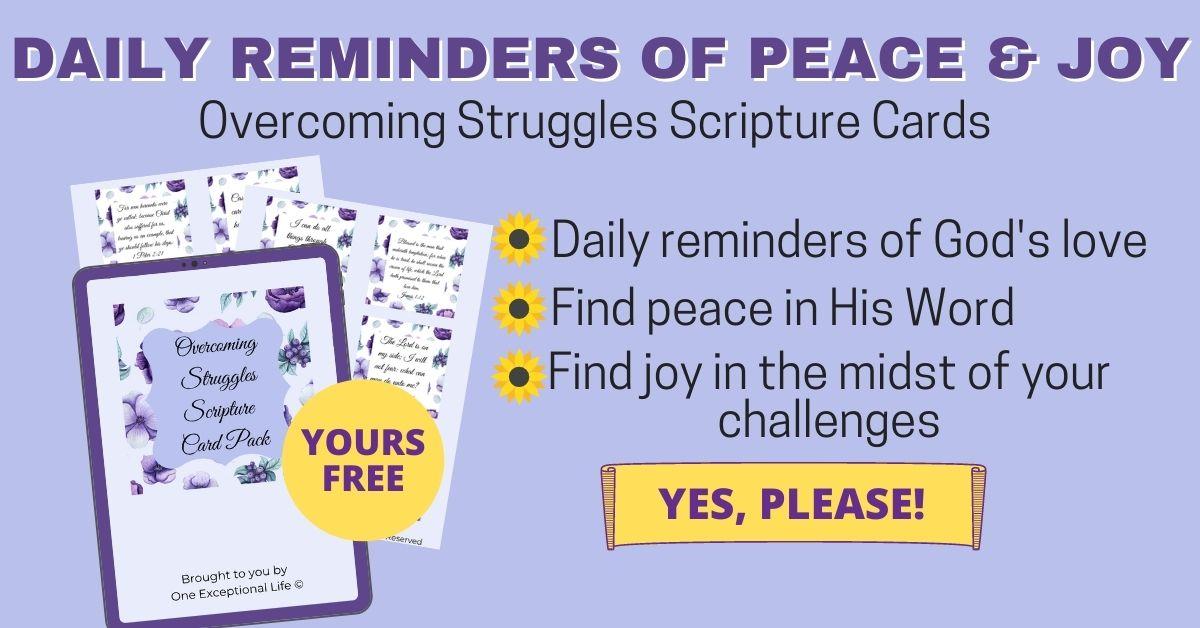 blue struggles scripture cards