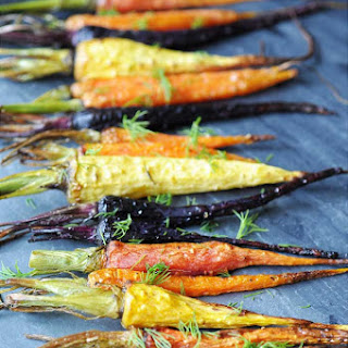 Roasted Tri-Color Baby Carrots with Dill