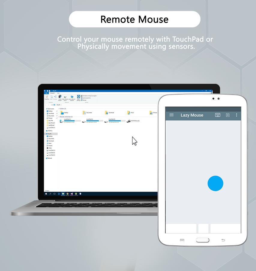 Lazy Mouse 💻- Pc Remote & Computer Mouse- screenshot