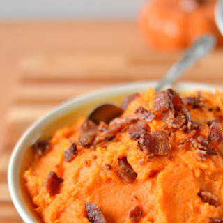 Mashed Sweet Potatoes with Bacon.