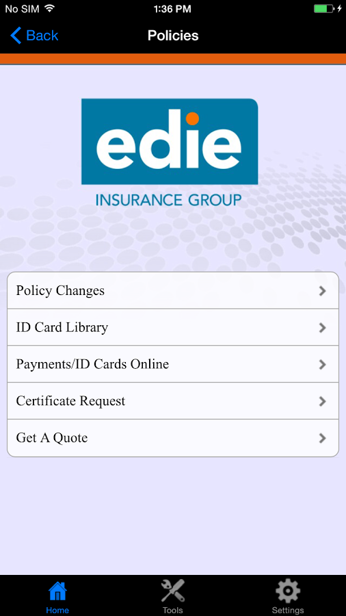 Edie Insurance Group- screenshot