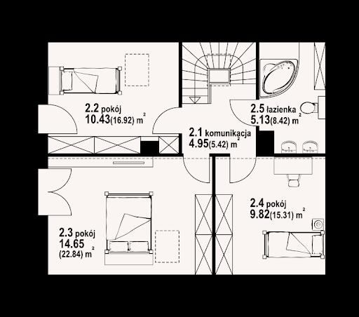 Świdnica 31dws - Rzut poddasza